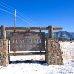 Old sign of Flagstaff,Arizona