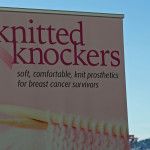 Knitted Knockers charity booth