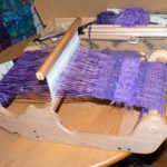 weaving happening over at Amanda's Art Yarn & Fiber